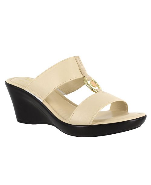 Easy Street Tuscany by Calla Wedge Sandals