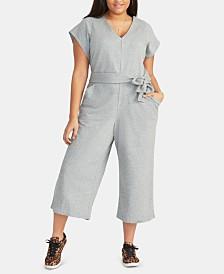 RACHEL Rachel Roy Trendy Plus Size Cropped Racquel Jumpsuit