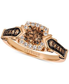 Chocolatier® Diamond Ring  (7/8 ct. t.w.) in 14k Rose Gold