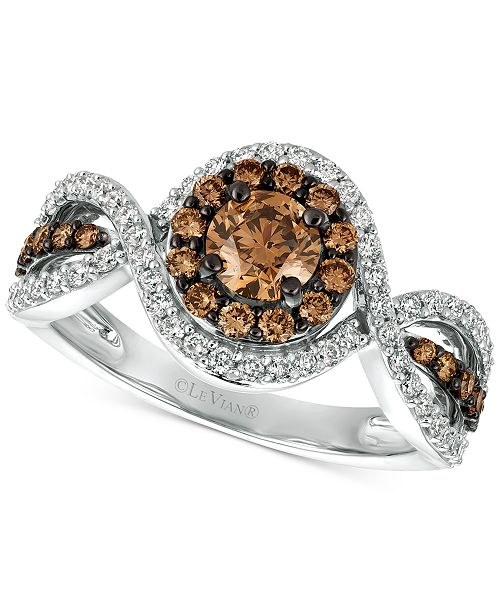 Le Vian Chocolatier® Diamond Ring (1-1/6 ct. t.w.) in 14k White Gold