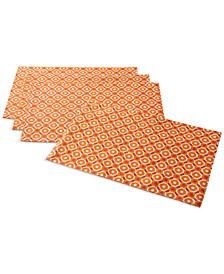Octagon Geo Orange Placemats, Set of 4