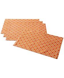 Octagon Geo Orange Placemats, Set of 4