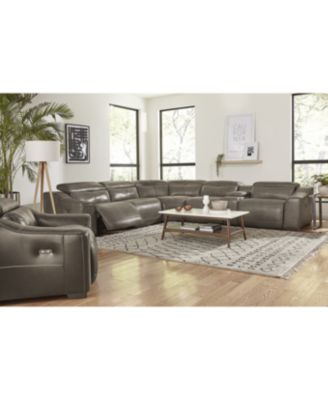CLOSEOUT! Ruthin 6-Pc. Leather Sectional Sofa with 2 Power Recliners & USB Console