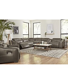 Ruthin Leather Sectional Sofa Collection