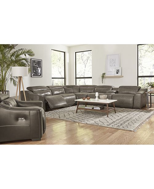 Furniture Ruthin Leather Sectional Sofa Collection