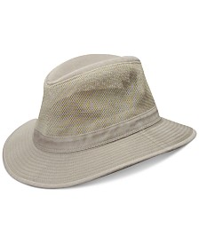 Dorfman Pacific Men's Washed Twill Mesh Safari Hat