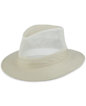 Dorfman Pacific Men's Washed Twill Mesh Safari Hat