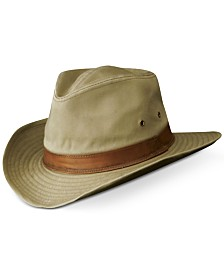 Dorfman Pacific Garment-Washed Twill Shapable Outback Hat