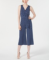 0a6a213d697 Jessica Howard Petite Polka-Dot Cropped Jumpsuit