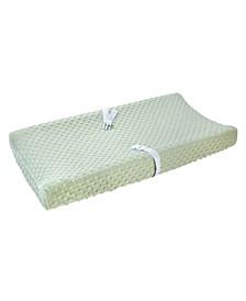Plush Velboa Bubble Dot Changing Pad Cover