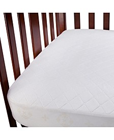 Fitted Waterproof Crib Mattress Pad 2-Pack