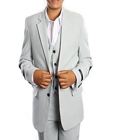 Tazio Elbow Patch 2 Button Vested Boys Suit, 5 Pc