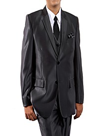 Shiny Single Breasted 2 Button Vested Suits for Boys