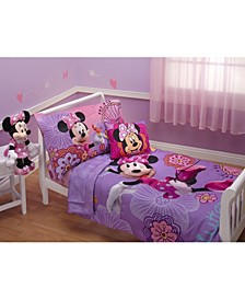 Minnie Mouse Fluttery Friends 4 Piece Toddler Bed Set