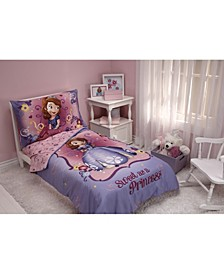 Sofia the First Sweet as a Princess 4 Piece Toddler Bed Set