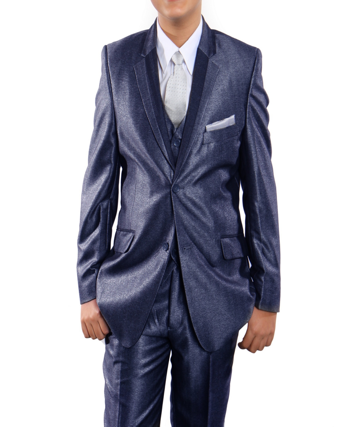 Tazio Notch Lapel Single Breasted 1 Button Vested Suits for Boys