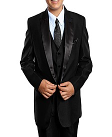 Peak Lapel Classic Fit 2 Button Vested Suits for Boys