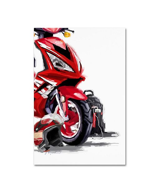 "Trademark Global The Macneil Studio 'Red Scooter' Canvas Art - 32"" x 22"" x 2"""