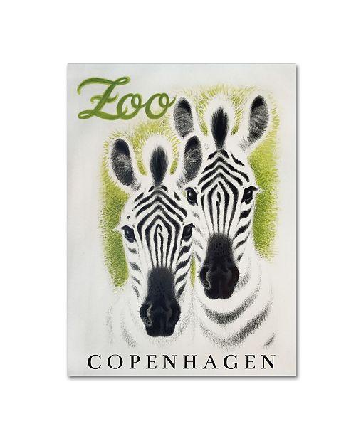 "Trademark Global Vintage Apple Collection 'Copenhagen Zoo' Canvas Art - 47"" x 35"" x 2"""