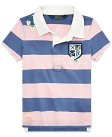 Polo Ralph Lauren Toddler Girls Embroidered Cotton Rugby Shirt