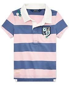Polo Ralph Lauren Little Girls Embroidered Cotton Rugby Shirt