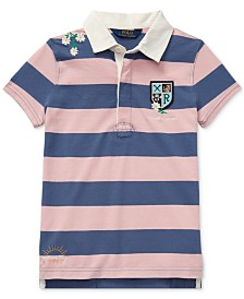 Polo Ralph Lauren Big Girls Embroidered Cotton Rugby Shirt