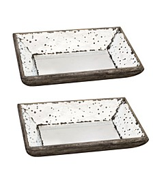 Glass Trays, Set of 2