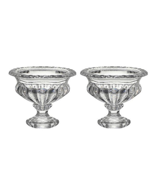 AB Home Omari Crystal Display Bowl, Medium, Set of 2