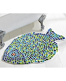 "Fish Mosaic Tufted Cotton Rug 24"" x 36"""