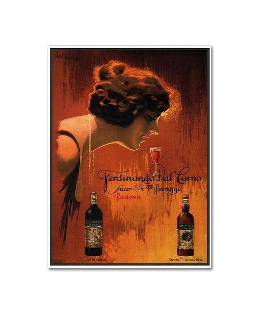 """Trademark Global Vintage Lavoie 'Ads-0084' Canvas Art - 19"""" x 14"""" x 2"""""""
