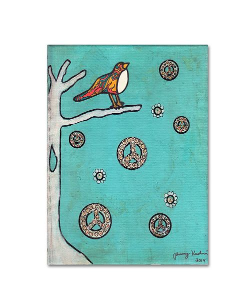 "Trademark Global Tammy Kushnir 'Peace Sign Bird' Canvas Art - 32"" x 24"" x 2"""