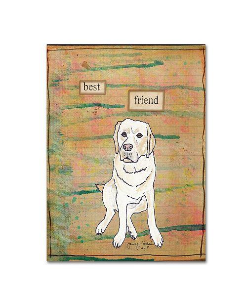 "Trademark Global Tammy Kushnir 'Best Friend 2' Canvas Art - 47"" x 35"" x 2"""