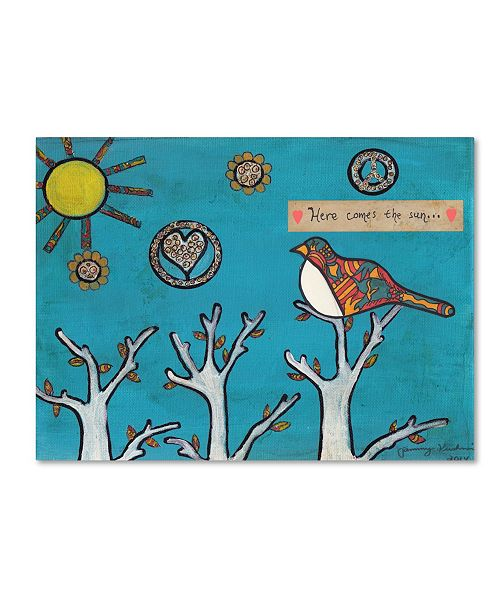 "Trademark Global Tammy Kushnir 'Here Comes The Sun' Canvas Art - 47"" x 35"" x 2"""
