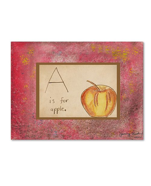 "Trademark Global Tammy Kushnir 'A is For Apple' Canvas Art - 24"" x 18"" x 2"""