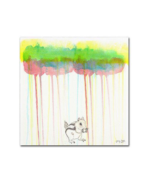 "Trademark Global Tammy Kushnir 'Through The Forest 1' Canvas Art - 14"" x 14"" x 2"""
