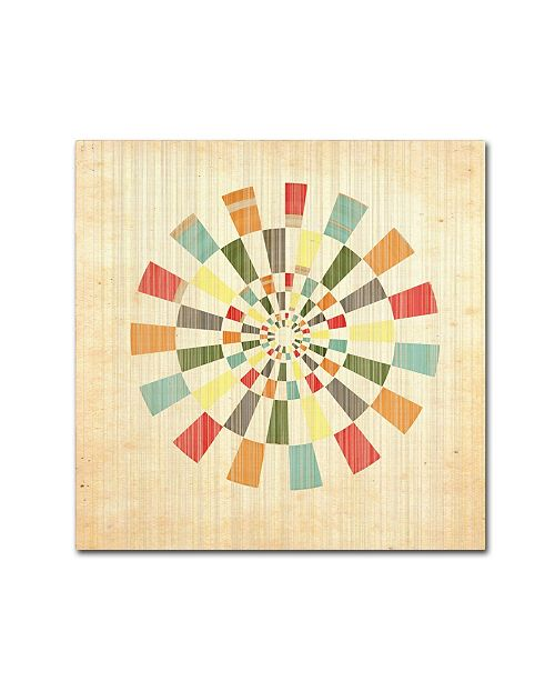 "Trademark Global Tammy Kushnir 'Pinwheel' Canvas Art - 18"" x 18"" x 2"""