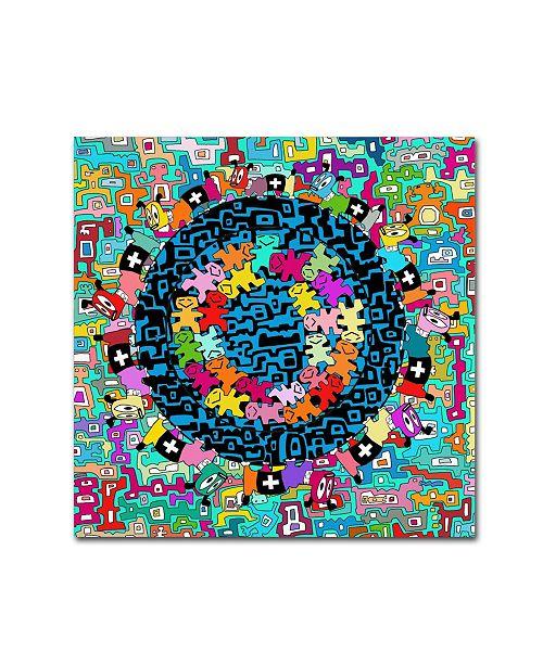 "Trademark Global Miguel Balbas 'Mix 1' Canvas Art - 35"" x 35"" x 2"""