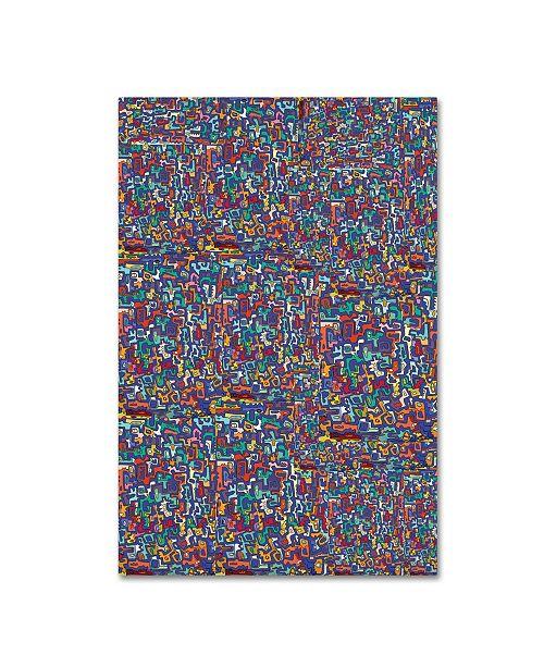 "Trademark Global Miguel Balbas 'Abstract 3815' Canvas Art - 47"" x 30"" x 2"""