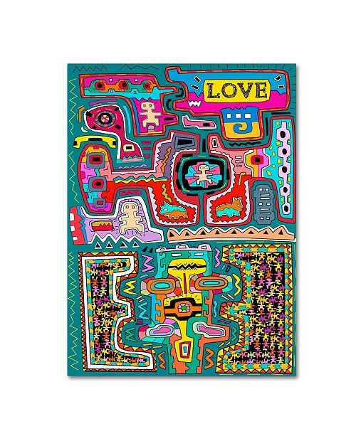 "Trademark Global Miguel Balbas 'Circuits XX' Canvas Art - 24"" x 18"" x 2"""