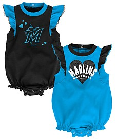 Outerstuff Baby Miami Marlins Double Trouble Bodysuit Set