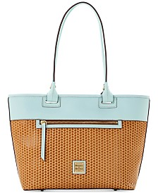 Dooney & Bourke Beacon Woven Leather Zip Tote
