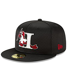 Hickory Crawdads Batting Practice Mesh 59FIFTY-FITTED Cap
