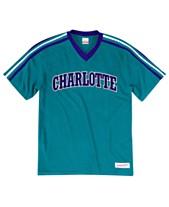 aabfb7754cd Mitchell   Ness Men s Charlotte Hornets Overtime Win V-Neck T-Shirt