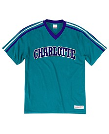 Mitchell & Ness Men's Charlotte Hornets Overtime Win V-Neck T-Shirt