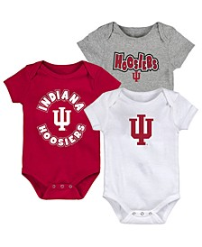 Baby Indiana Hoosiers Everyday Fan 3 Piece Creeper Set