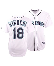 Majestic Men's Yusei Kikuchi Seattle Mariners Player Replica Cool Base Jersey