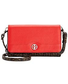 Giani Bernini Plaid Block Signature Crossbody Wallet, Created for Macy's