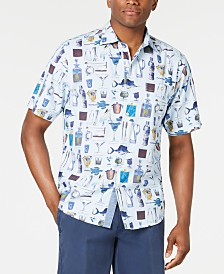 Tommy Bahama Men's Well Stocked Printed Seersucker Camp Shirt