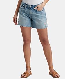 Cotton Embroidered Boyfriend Shorts
