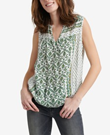 Lucky Brand Lana Printed Top